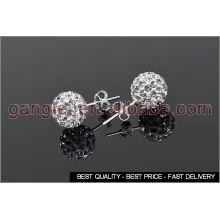 shamballa stud earrings