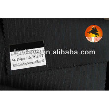 Super 160'S stripe all wool suits fabric