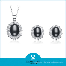 Ensemble de bijoux en argent noble avec un design personnalisé (J-0143)