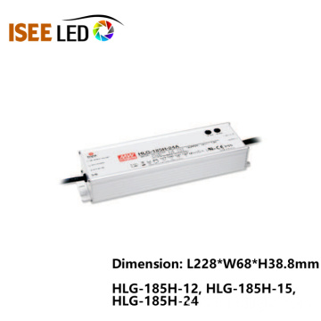 HLG-185 Meanwell 185W Fuente de alimentación impermeable IP65