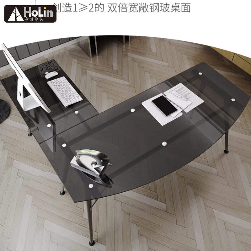 L Glass table for home and office