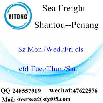 Shantou Port LCL Consolidation To Penang