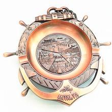Turkcy Souvenir Bac à cendres en métal antique en laiton avec logo (B5006)
