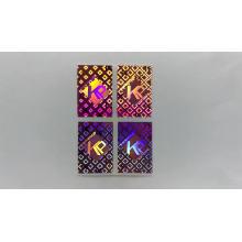 Custom different shapes metal color laser label hologram sticker