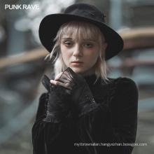 PUNK RAVE OPS-168SSF lady girl sexy plus size shiffon women eveningleather gothic glove