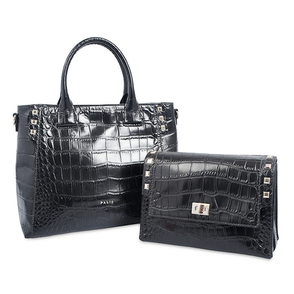 exotic real crocodile leather business bag