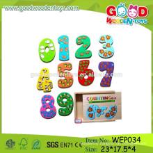 2015 preschool smart game wooden kids number puzzle toys