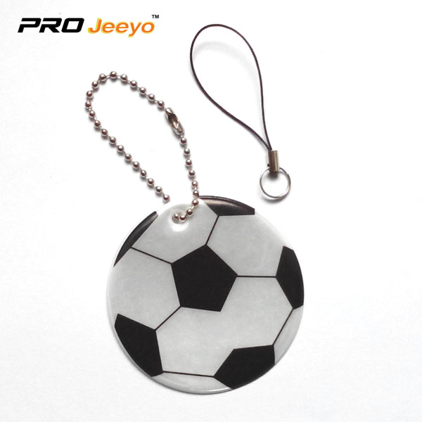 Reflective Pvc Foam Leather Football White Keychain Rv 212 1