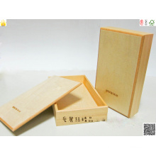 Wooden Box with Hotstamping and Spot UV