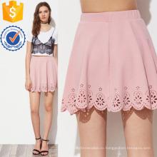 Лазерная резка гребешок Подол фактурная юбка Производство Оптовая продажа женской одежды (TA3079S)