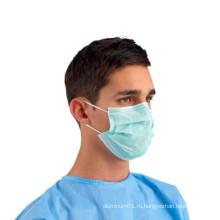 Медицинская стерильная одноразовая 3-х слойная хирургическая маска для лица