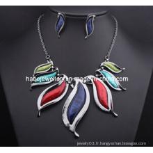 Ensemble de collier en pierre de mode de grande mode / ensemble de bijoux de mode (XJW13209)