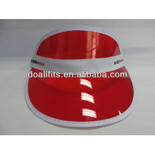 Customized logo fashion Sun visor cap Pvc visor cap