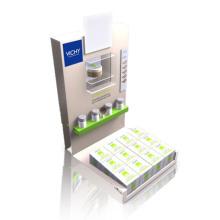 Impreso de acrílico mostrador de la parte superior de la pantalla de los comerciantes para la crema de cara