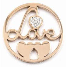 Розовое золото Любовь и сердца Пластина для монетных мешков