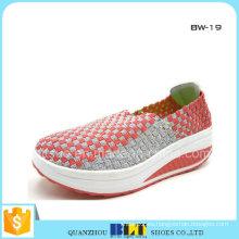Zapatillas tejidas planas y ocasionales para mujer