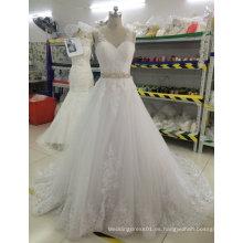 Aoliweiya nuevo vestido nupcial de la boda con la espalda hermosa