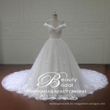 Venta al por mayor china alibaba vestido nupcial más lastest de hombro vestido de novia de vestido de bola