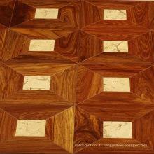 Parquet de meubles en bois de rose avec petite incrustation de jade