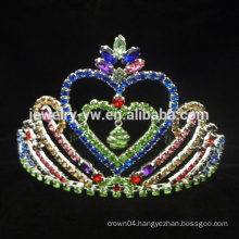Wholesale Heart Crystal Crowns for girls