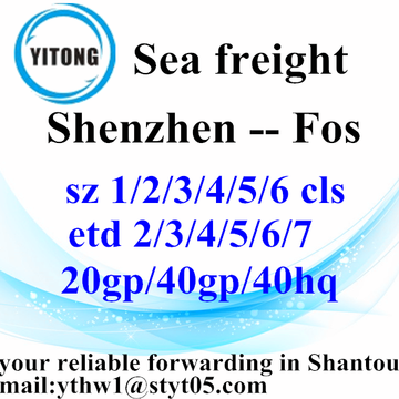 Shenzhen transitaire International Shipping à Fos