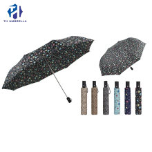 Custom Automatic Colorful Printing Flower Folding Umbrella