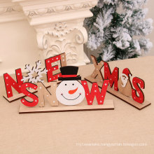 2020 new Christmas wooden painted letter card DIY assembled assembly ornaments Christmas decoration supplies