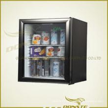 Refrigerador de puerta de cristal ordinario para el hotel