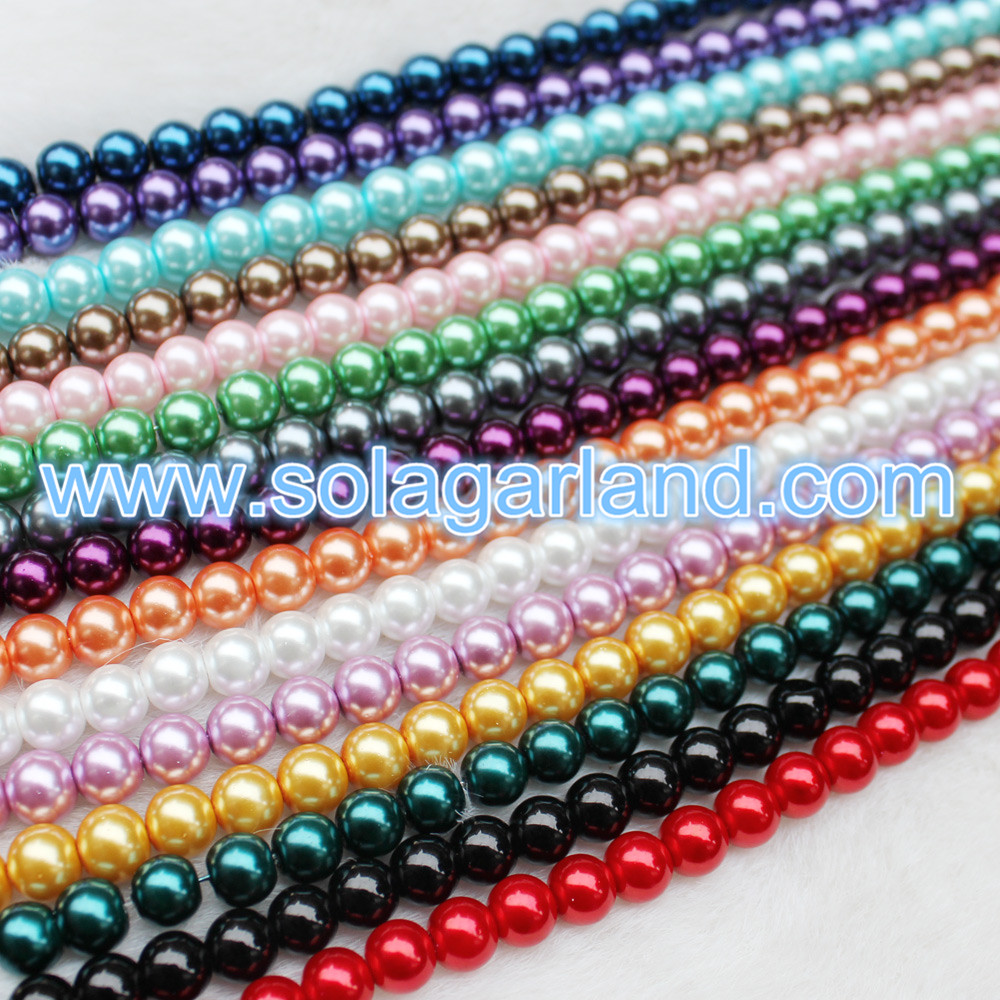 Glass Pearl Spacer Beads