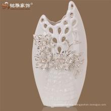 China Guangdong factory folk art wedding decoration glaze enamel ceramic procelain flower vase
