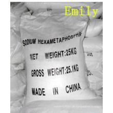 China Natrium Hexametaphosphat Lebensmittel / Industriequalität