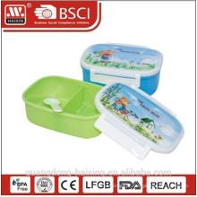 Sectionnelle Lunch en plastique boîte contenant de la nourriture