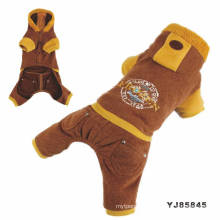 Advertising high quality fashion long sleeve winter dog clothes with hood