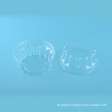 Round disposable plastic thailand food container with clear lid