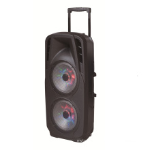 Double 10′′inch Super Power Speaker with LED Light Microphone F73D