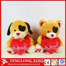 Валентин плюшевый медведь с любящим сердцем для влюбленных