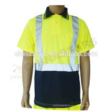 EN20471 / ANSI 100% poliéster reflexivo de seguridad T-shirt