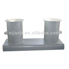 Steel pipe double bollards
