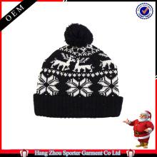 16FZCB07 knitted christmas beanie hat