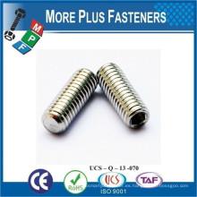 Fabricado en Taiwán ISO 4026 ANSI B18 3 6M DIN 913 Tornillo de fijación plana Punto plano