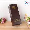 2018 vente chaude noir haut de gamme en carton boîtes d'emballage de vin en gros