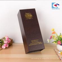 Boa qualidade personalizado profissional Vazio Cartão De Papel De Luxo Caixa De Vinho