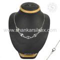 Hotest Superior Design 925 Sterling Multi Edelstein Silber Halsketten Schmuck Online-Großhändler