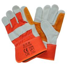 Vaca Split cuero trabajo seguridad mano guantes refuerzo la palma