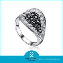 Antiquado pavimentada definição anel de prata cz (sh-r0071)