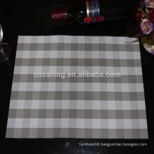 grey-white PVC grid jacquard placemat