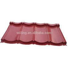 Рубиновый красный цвет с покрытием из гофрированной гаванированной стальной крыши