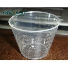 Taza medidora plástica con diferentes tamaños