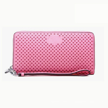 Pink Wallet Case PU Leather Fashion Custom Brand disponible Sac à main femme Wzx1064