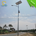Solar power street light with Hot-Dip Galvanized pole with new energy